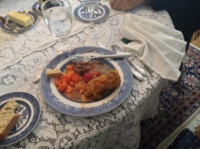 Book group's boarding house lunch for Swimming in the Moon