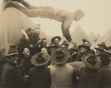 World War I soldiers having fun before the war