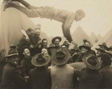 World War I soldiers having fun before the war